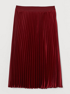 Kjolar - H&M Plisserad kjol röd