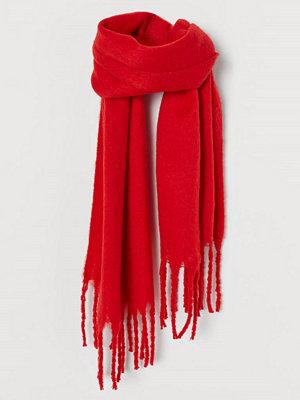Halsdukar & scarves - H&M Borstad scarf röd