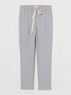 H&M ljusgrå byxor Pull on-byxa grå