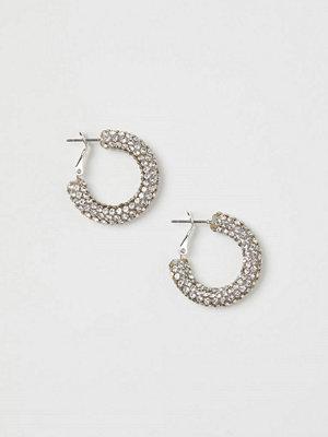 H&M Runda strassörhängen silver