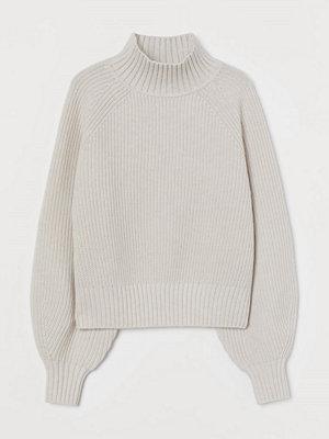 H&M Ribbstickad tröja i ullmix brun