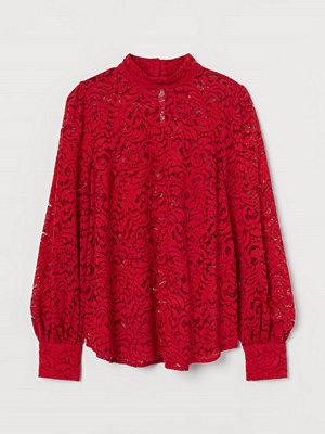 H&M Spetsblus röd