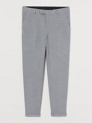 H&M Dressad byxa Slim Fit grå
