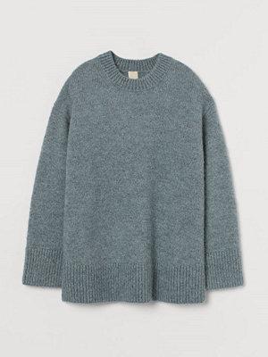 H&M Tröja i ullmix grå