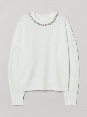H&M Tröja med nitar vit