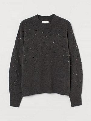 H&M Tröja med nitar grå