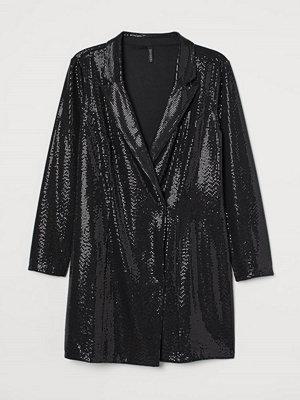 H&M H & M+ Skimrande kavajklänning svart
