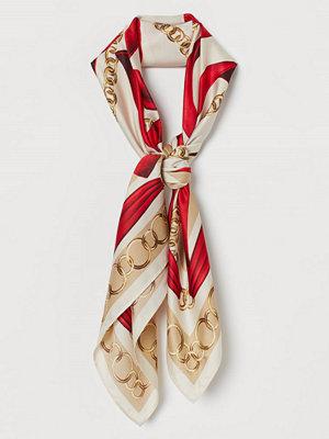H&M Mönstrad satinscarf röd