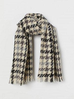 H&M Mönstrad halsduk grå