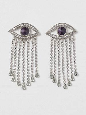 H&M Ögonformade strassörhängen silver