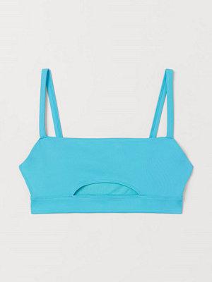 H&M Cut out-bikinitopp turkos
