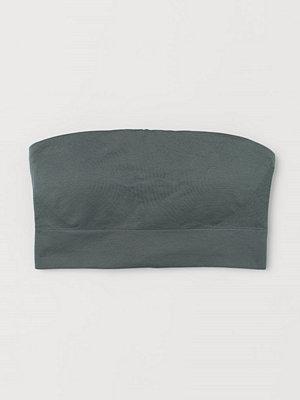H&M Seamless bandeau-bh grön
