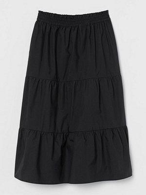 H&M Voluminös bomullskjol svart