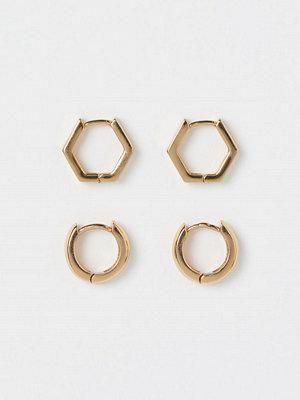 H&M 2-pack guldpläterade örhängen guld