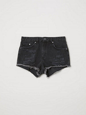 H&M Jeansshorts Skinny Regular grå