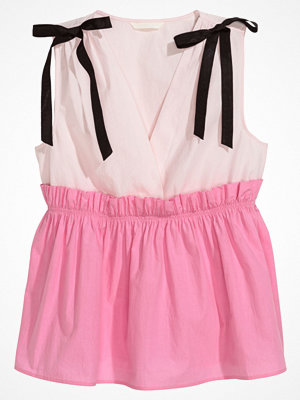 H&M V-ringad topp rosa