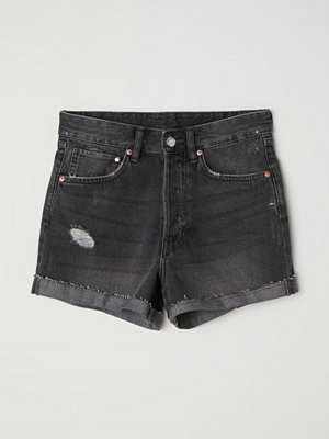 H&M Jeansshorts Mom Fit grå