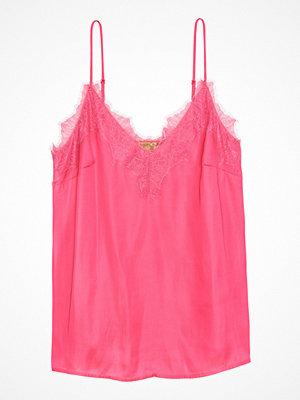 Linnen - H&M Satinlinne med spets rosa