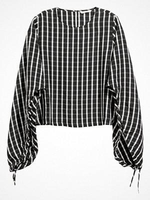 H&M Blus i lyocellmix svart