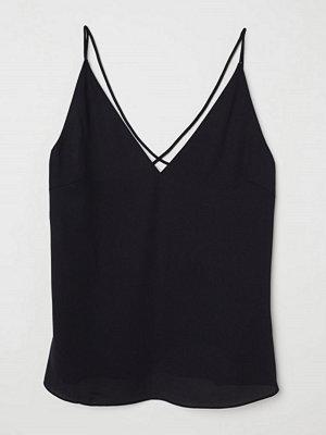 H&M V-ringad topp svart