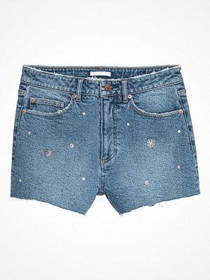 H&M Jeansshorts med nitar blå