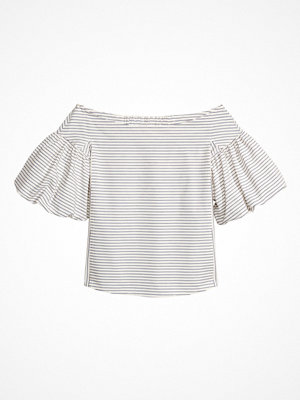 H&M Off shoulder-blus vit