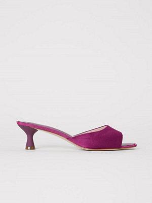 H&M Slip in-sandaler rosa