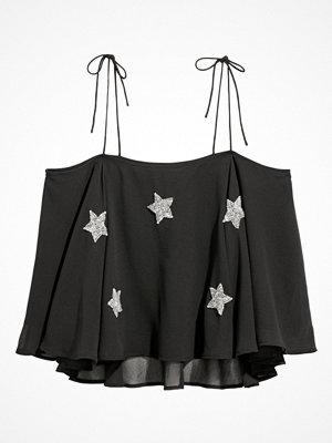 Linnen - H&M Pärlbroderat linne svart