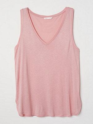 H&M V-ringad trikåtopp rosa