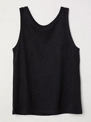 H&M Tanktop i linmix svart