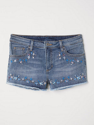 Shorts & kortbyxor - H&M Jeansshorts med broderier blå