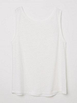 H&M Tanktop i linmix vit