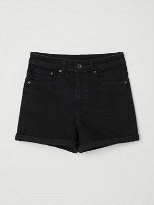 Shorts & kortbyxor - H&M Jeansshorts High waist svart