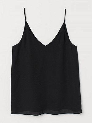 H&M V-ringat linne svart