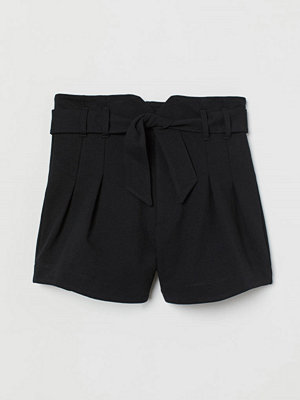 H&M Paper bag-shorts svart