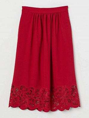 H&M Kjol med spets röd
