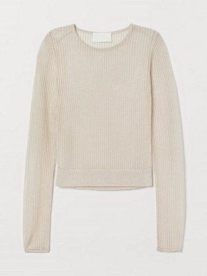 H&M Glesstickad tröja beige