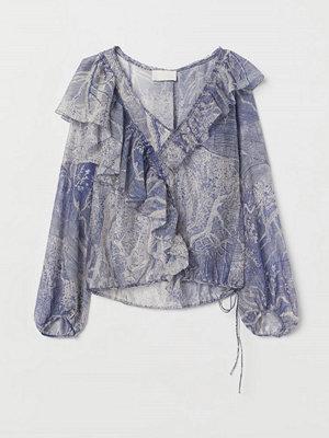 H&M Skir blus i lyocellmix lila