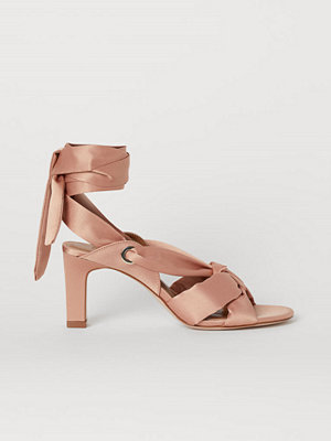 H&M Sandaletter i satin orange