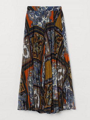 H&M Omlottlagd kjol blå