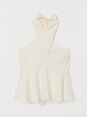 H&M Halterneck-topp vit