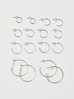 H&M 8 par örhängen silver