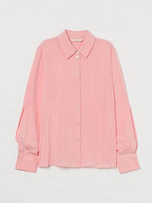 H&M Sidenblus rosa