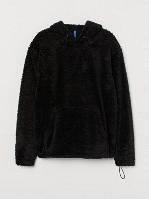 Street & luvtröjor - H&M Huvtröja i pile svart