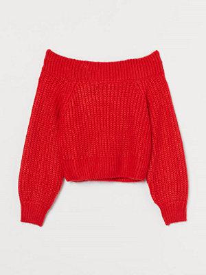 H&M Off shoulder-tröja röd