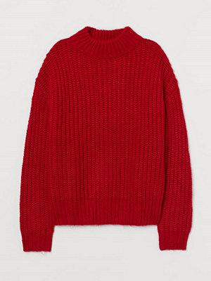 H&M Stickad tröja i ullmix röd