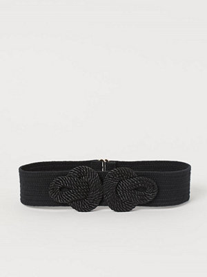 H&M Midjeskärp med repdetalj svart