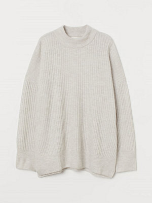 H&M Ribbstickad tröja brun