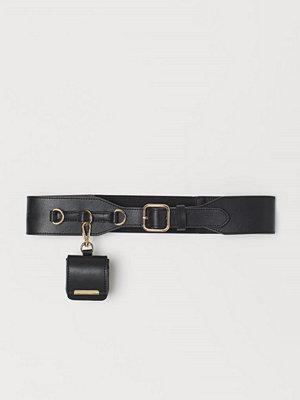 H&M Midjeskärp med miniväska svart