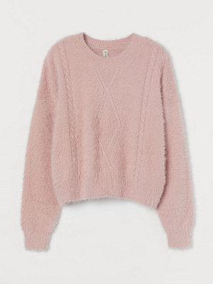 H&M Kabelstickad tröja rosa